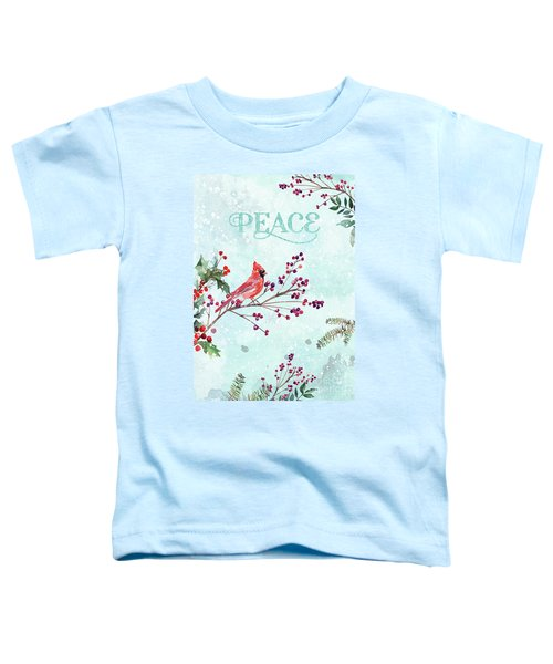 Woodland Holiday Peace Art Toddler T-Shirt