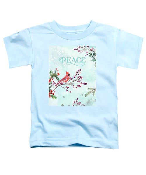 Woodland Holiday Peace Art Toddler T-Shirt