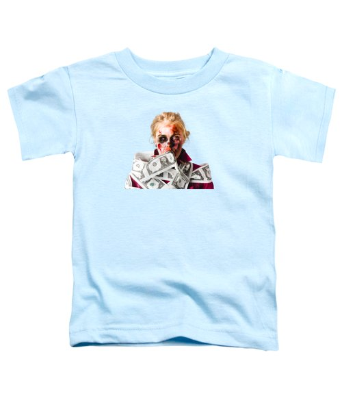 Worried Zombie With Dollar Bills Toddler T-Shirt