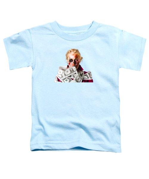 Worried Zombie With Dollar Bills Toddler T-Shirt