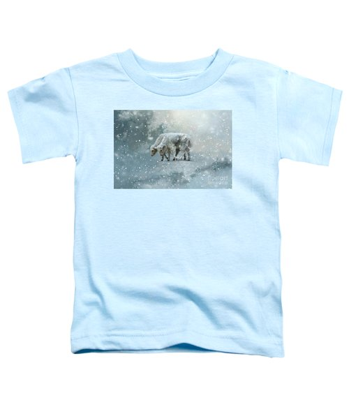 Yaks Calves In A Snowstorm Toddler T-Shirt