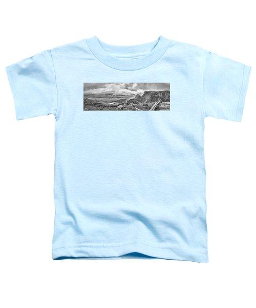 Yellow Autumn Panoramic Bw #i1 Toddler T-Shirt