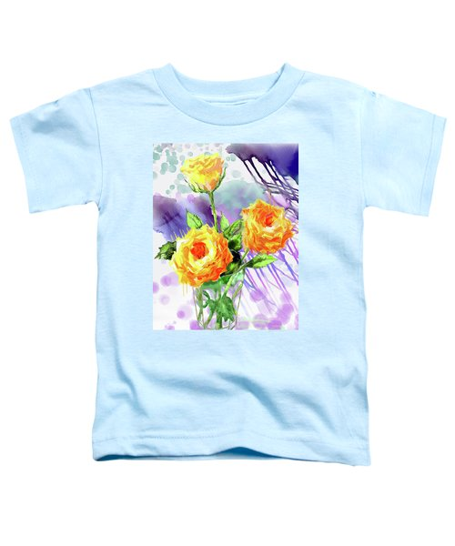 Yellow Roses In A Glass Toddler T-Shirt