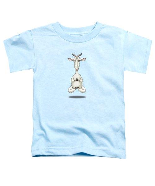 Zen Goat Meditating Toddler T-Shirt