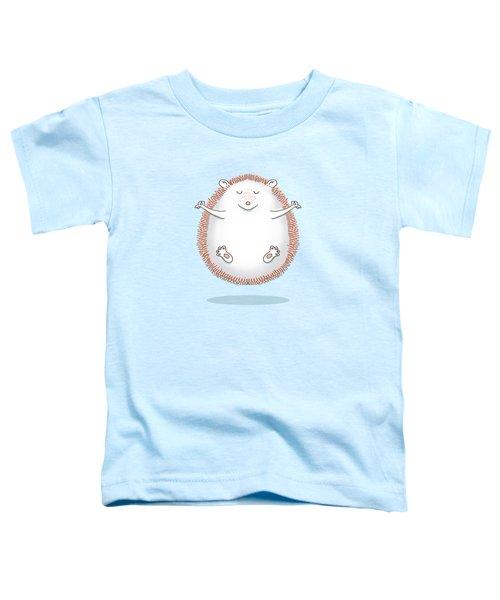 Zen Hedgehog Meditating Toddler T-Shirt