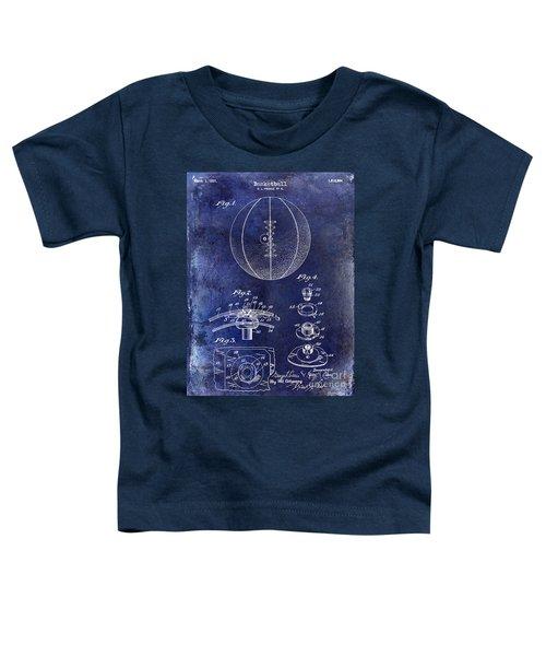 1927 Basketball Patent Drawing Blue Toddler T-Shirt