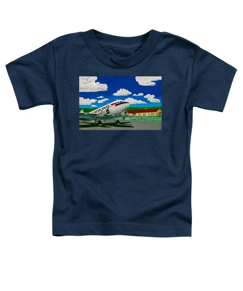 Portsmouth Ohio Airport And Lake Central Airlines Toddler T-Shirt