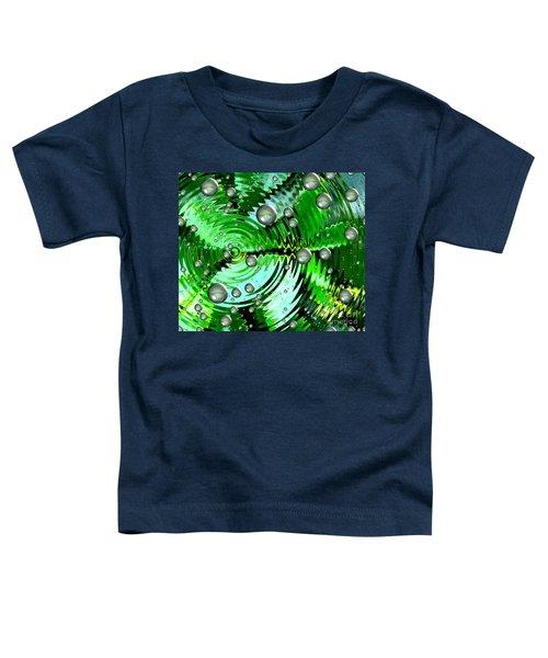 Amazing. Abstract Art. Green Grey  Blue Yellow  Toddler T-Shirt
