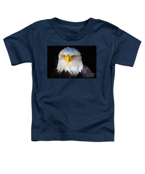 Closeup Portrait Of An American Bald Eagle Toddler T-Shirt