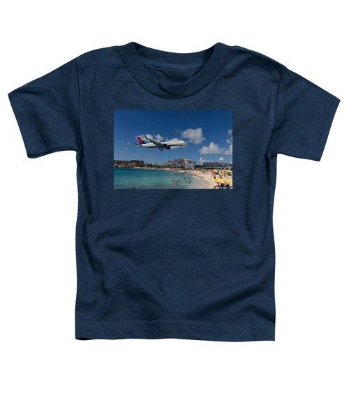 Delta Air Lines Landing At St Maarten Toddler T-Shirt