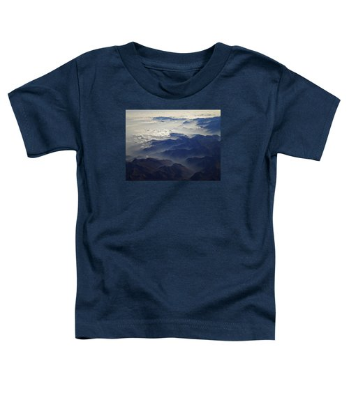Toddler T-Shirt featuring the photograph Flying Over The Alps In Europe by Colette V Hera  Guggenheim