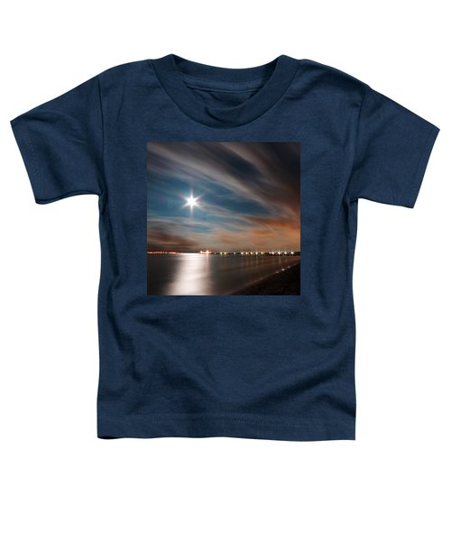 Moon Rise Over Anna Maria Island Historic City Pier Toddler T-Shirt