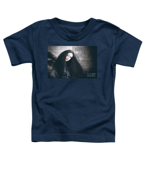 Occult Medieval Performer On Castle Brick Wall Toddler T-Shirt