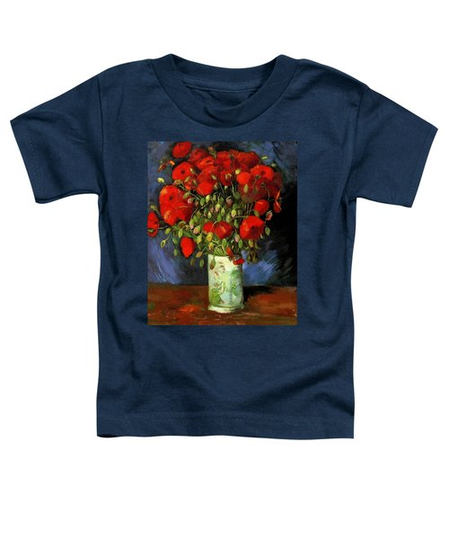 Vase With Red Poppies Toddler T-Shirt