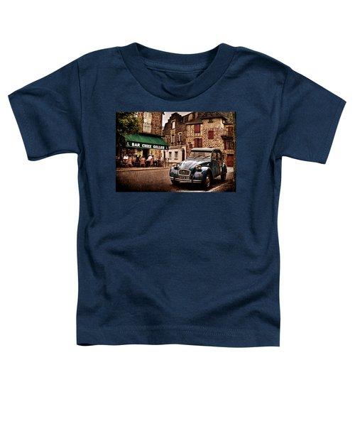 Citroen 2cv In French Village / Meyssac Toddler T-Shirt