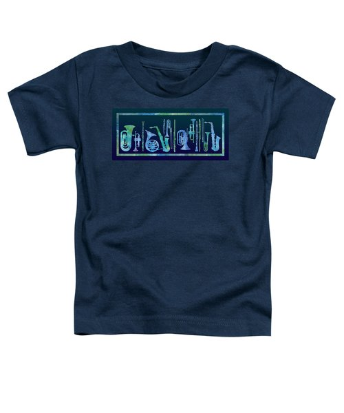 Cool Blue Band Toddler T-Shirt by Jenny Armitage