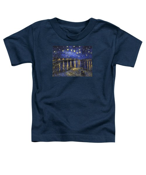 Starry Night Over The Rhone Toddler T-Shirt