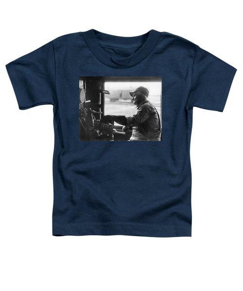 A Railroad Engineer At Work Toddler T-Shirt