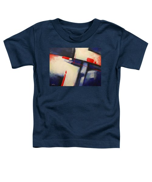 Abstract Red Blue Toddler T-Shirt