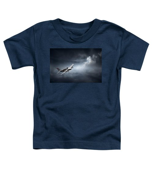 Risk - Aeroplane In Thunderstorm Toddler T-Shirt