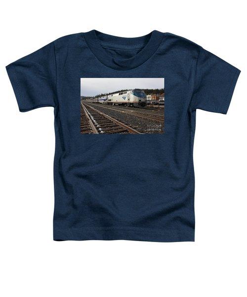 Amtrak California Zephyr Trains In Snowy Truckee California 5d27528 Toddler T-Shirt