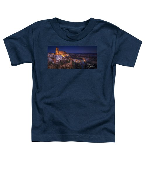 Arcos De La Frontera Panorama From Balcon De La Pena Cadiz Spain Toddler T-Shirt