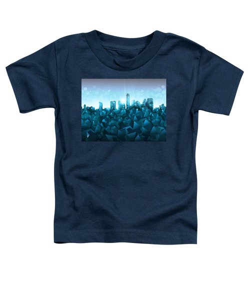 Austin Skyline Geometry 3 Toddler T-Shirt by Bekim Art