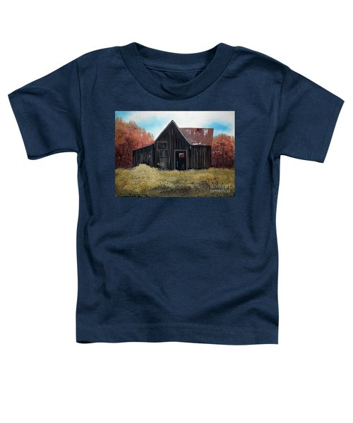 Autumn - Barn -orange Toddler T-Shirt