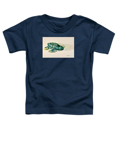 Da150 Baby Sea Turtle By Daniel Adams  Toddler T-Shirt