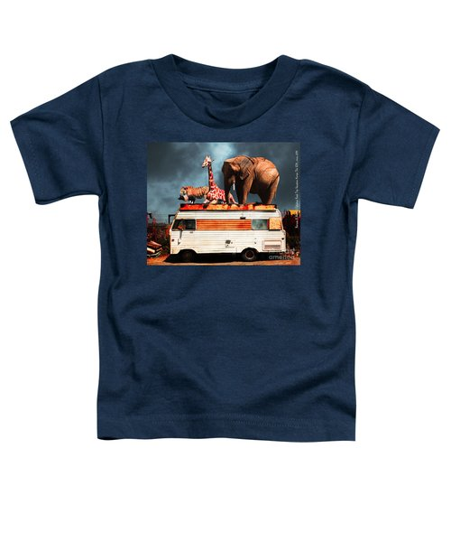 Barnum And Baileys Fabulous Road Trip Vacation Across The Usa Circa 2013 5d22705 With Text Toddler T-Shirt
