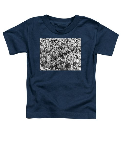 Baseball Fans In The Bleachers At Yankee Stadium. Toddler T-Shirt by Underwood Archives