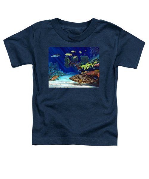 Black Grouper Reef Toddler T-Shirt