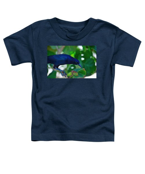 Blue-black Black Bird Toddler T-Shirt