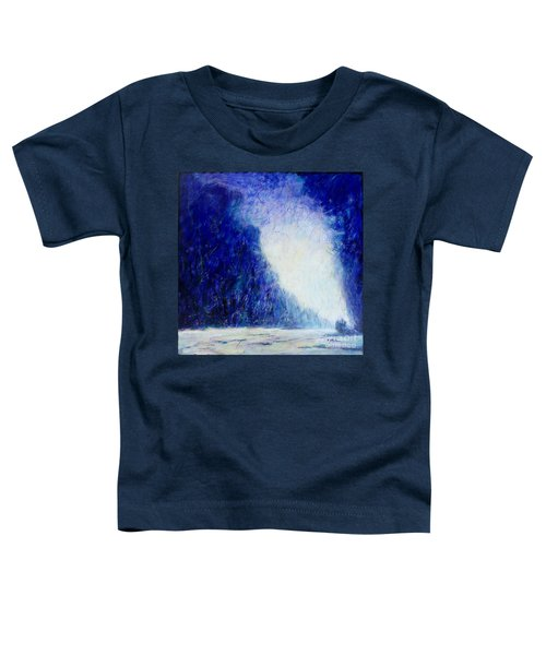 Blue Landscape - Abstract Toddler T-Shirt