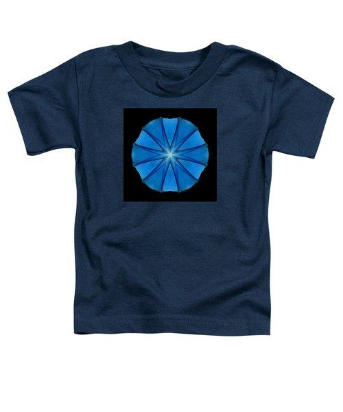 Blue Morning Glory Flower Mandala Toddler T-Shirt