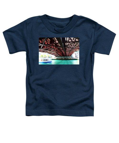Boat Under Steel Bridge Toddler T-Shirt