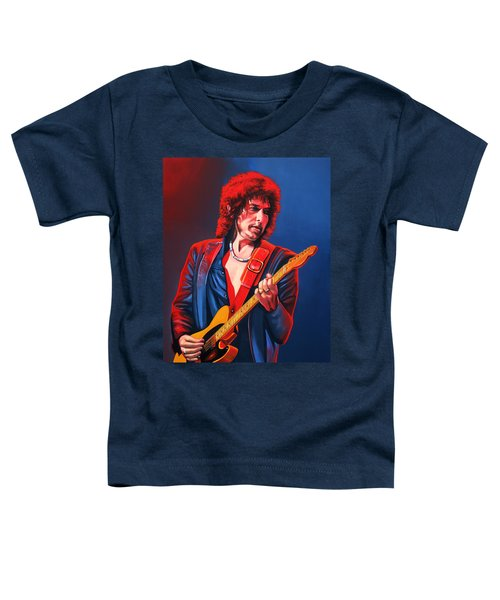 Bob Dylan Painting Toddler T-Shirt by Paul Meijering