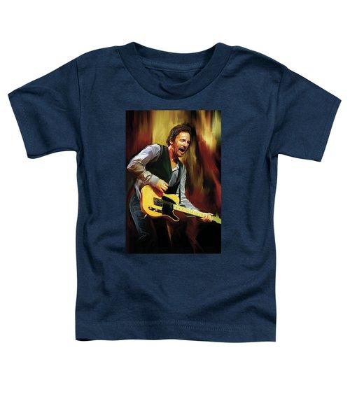 Bruce Springsteen Artwork Toddler T-Shirt by Sheraz A