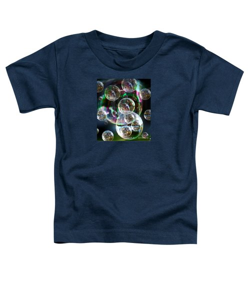 Toddler T-Shirt featuring the photograph Bubbles And More Bubbles by Nareeta Martin