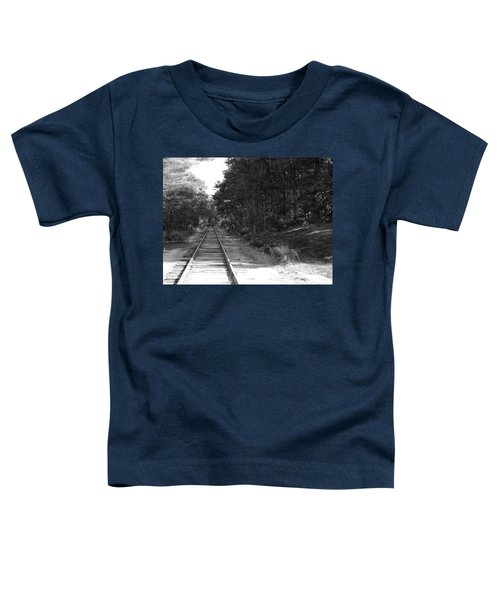 Bw Railroad Track To Somewhere Toddler T-Shirt