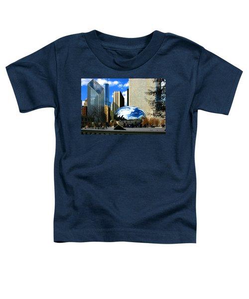 Chicago Skyline Bean Toddler T-Shirt