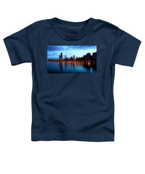 Chicago Skyline Dusk Toddler T-Shirt