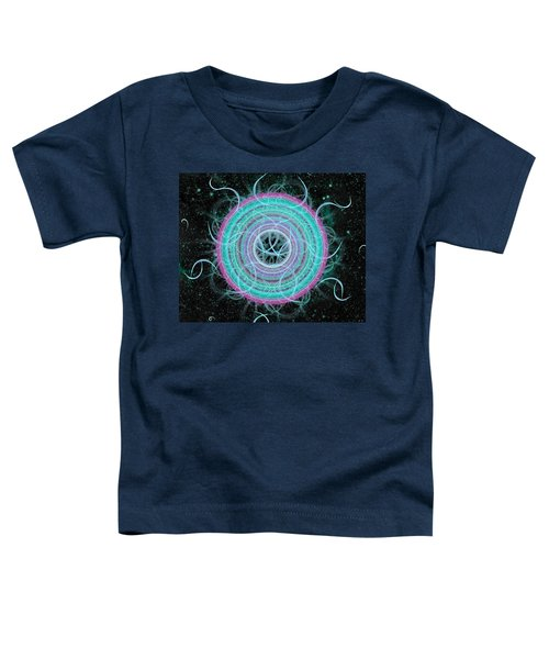 Toddler T-Shirt featuring the digital art Cosmic Circle by Shawn Dall