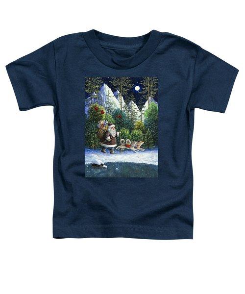 Cross-country Santa Toddler T-Shirt