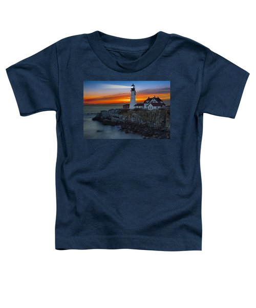 Dawn At Portalnd Head Light Toddler T-Shirt