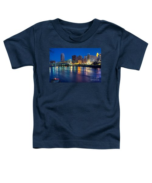 Downtown Minneapolis Skyline Hennepin Avenue Bridge Toddler T-Shirt