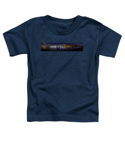 Downtown Vancouver Skyline By Night Toddler T-Shirt