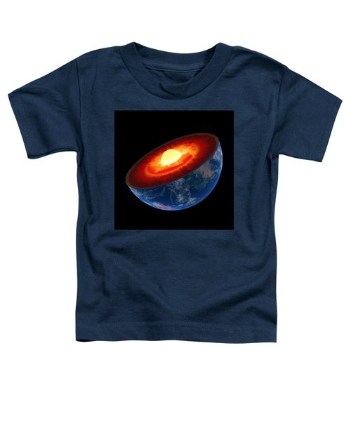 Earth Core Structure To Scale - Isolated Toddler T-Shirt