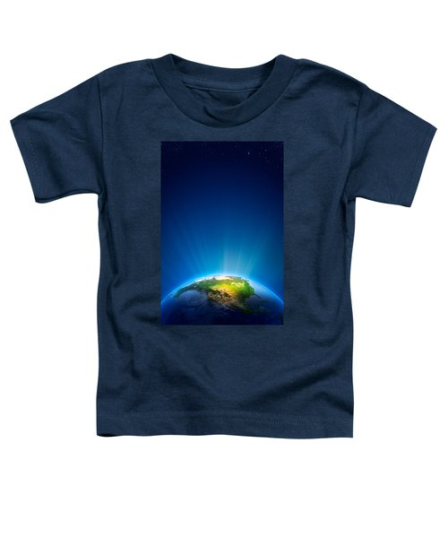 Earth Radiant Light Series - North America Toddler T-Shirt