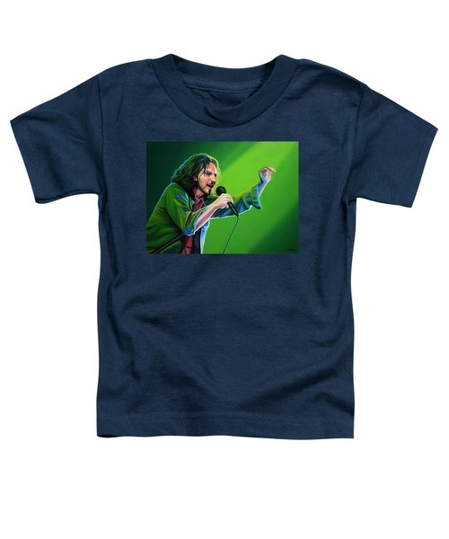 Eddie Vedder Of Pearl Jam Toddler T-Shirt by Paul Meijering